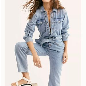 Free People Boyish Guy Coveralls Tie jumpsuit